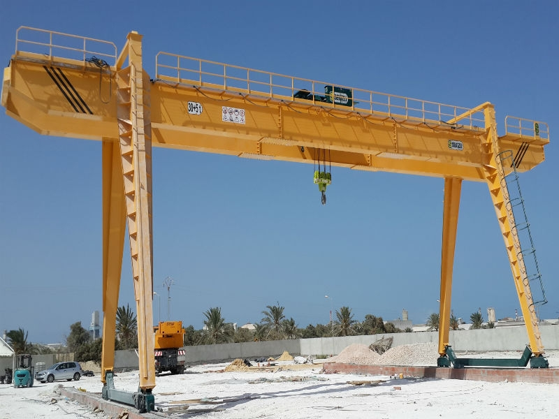 Overhead Crane Ground Bar : Gantry crane manufacturer electric cranes